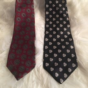 Yves Saint Laurent & Oscar dela Renta ties